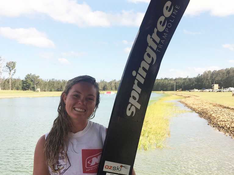 Casey Wooderson - competitive waterskier